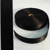 "1.5"" BLACK NYLON WEBBING"
