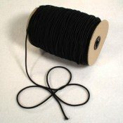 "1/8"" BLACK ELASTIC SHOCK CORD"