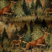 WISCONSIN WHITETAIL WILDLIFE TAPESTRY